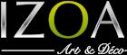Logo papier peint design izoa.fr
