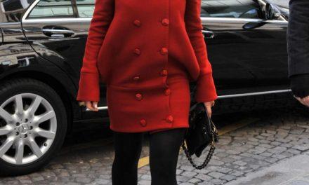 Manteau rouge, un peu de couleur cet hiver