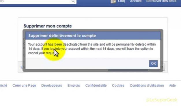 Comment fermer un compte facebook definitivement ?